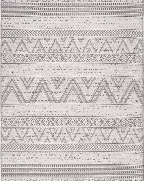 Universal Šedý venkovní koberec Universal Weave Geo, 130 x 190 cm
