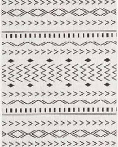 Černo-krémový venkovní koberec Bougari Kuba, 80 x 250 cm