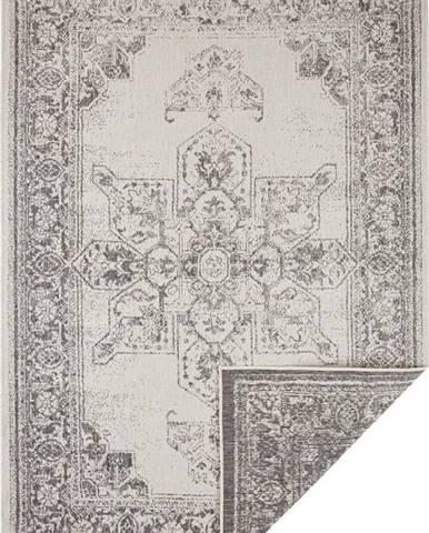 Šedo-krémový venkovní koberec Bougari Borbon, 80 x 150 cm