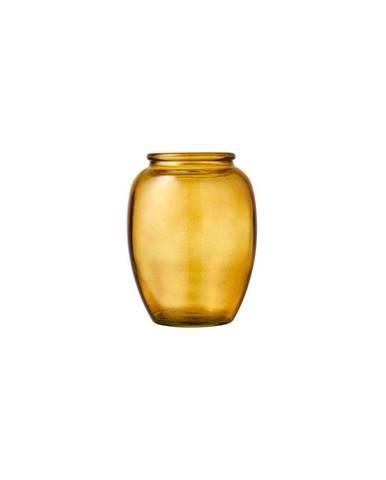 Žlutá skleněná váza Bitz Kusintha,ø10cm