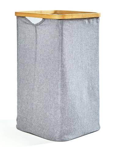 Blumfeldt Koš na prádlo, hranatý, bambus, pevná bavlna, jednoduchá montáž