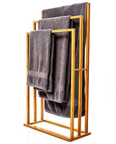 Blumfeldt Věšák na ručníky, 3 tyče na ručníky, 55 x 100 x 24 cm, stupňový design, bambus