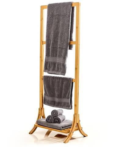 Blumfeldt Věšák na ručníky, 3 tyčky na ručníky, 40 x 104,5 x 27 cm, žebříkový design, bambus
