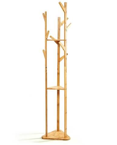 Blumfeldt Věšák, trojúhelníkový tvar, 3 přihrádky, 32,5x166cm, 100% bambus