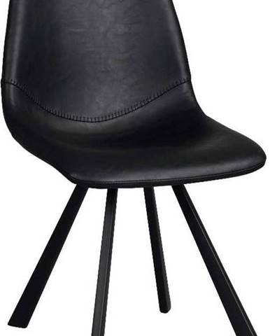 Černá jídelní židle s černými nohami Rowico Alpha