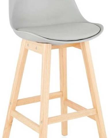 Šedá barová židle Kokoon April, výškasedu75cm