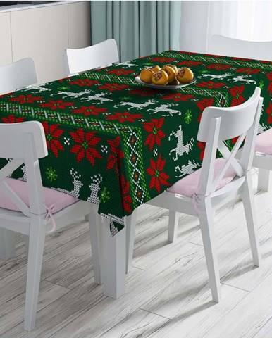 Vánoční ubrus s příměsí bavlny Minimalist Cushion Covers Merry Xmass,140x180cm