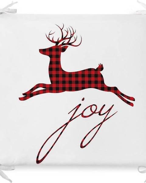 Minimalist Cushion Covers Vánoční podsedák s příměsí bavlny Minimalist Cushion Covers Joy,42x42cm