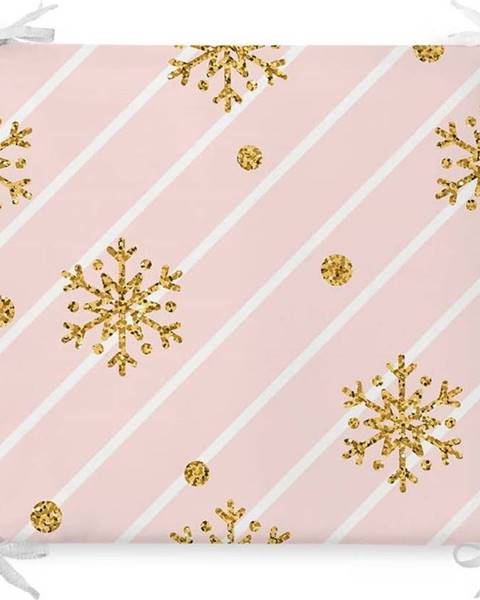 Minimalist Cushion Covers Vánoční podsedák s příměsí bavlny Minimalist Cushion Covers Pastel Ornaments,42x42cm