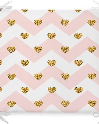 Podsedák s příměsí bavlny Minimalist Cushion Covers Pastel Hearts,42x42cm