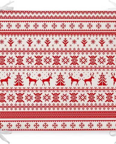 Vánoční podsedák s příměsí bavlny Minimalist Cushion Covers Geometric,42x42cm