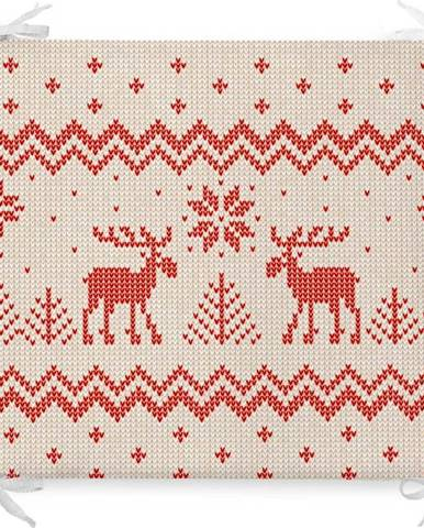 Vánoční podsedák s příměsí bavlny Minimalist Cushion Covers Merry Christmas,42x42cm