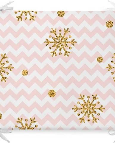 Vánoční podsedák s příměsí bavlny Minimalist Cushion Covers Pastel Stripes,42x42cm
