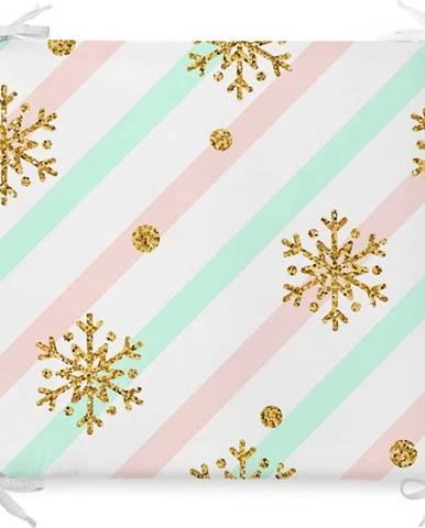 Vánoční podsedák s příměsí bavlny Minimalist Cushion Covers Pastel Xmass,42x42cm