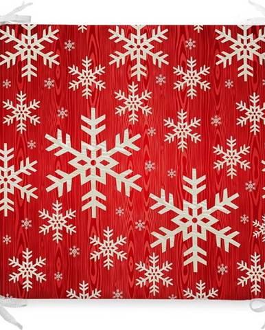 Vánoční podsedák s příměsí bavlny Minimalist Cushion Covers Snowflakes,42x42cm