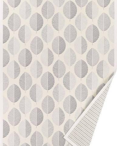 Bílý vzorovaný oboustranný koberec Narma Pärna, 140x70 cm