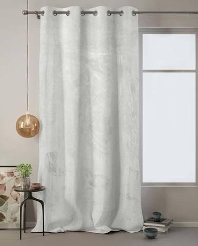 Bílý závěs AmeliaHome Velvet, 140 x 270 cm
