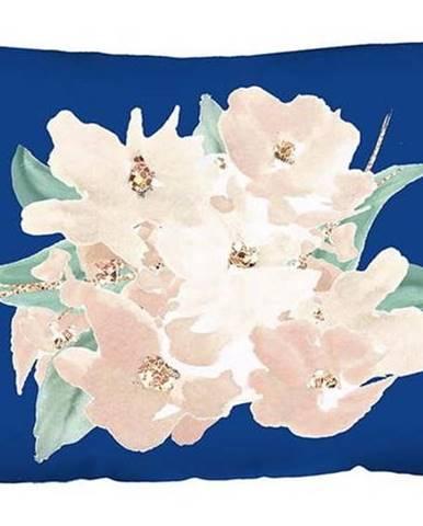 Modrý povlak na polštář Mike & Co. NEW YORK Honey Flowers,31x50cm