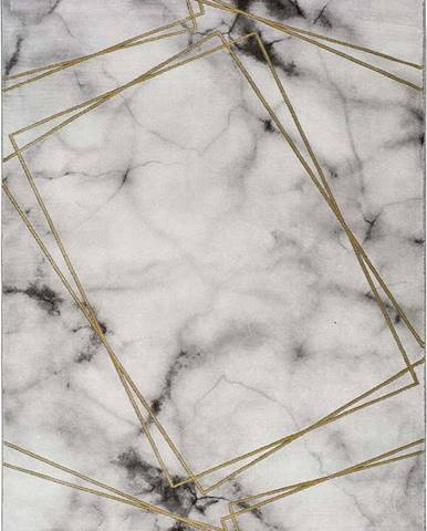 Šedo-bílý koberec Universal Artist Marble, 120 x 170 cm