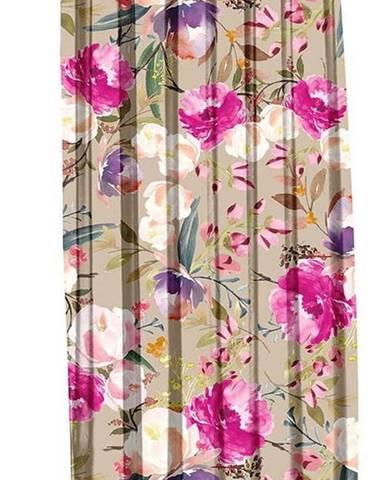 Béžový závěs Mike & Co. NEW YORK Butterflies Blossom,140x270cm
