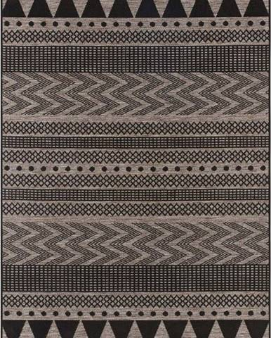 Černo-béžový venkovní koberec Bougari Sidon, 200 x 290 cm