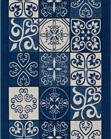 Modrý běhoun Floorita Maiolica, 55 x 280 cm