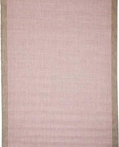 Růžový venkovní koberec Floorita Chrome, 200 x 290 cm