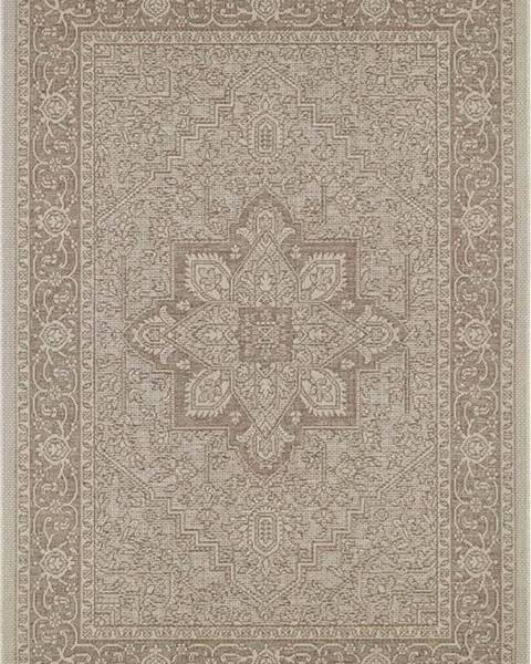 Bougari Hnědo-béžový venkovní koberec Bougari Anjara, 140 x 200 cm