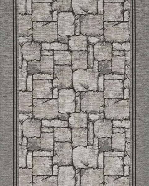 Floorita Šedý běhoun Floorita Wall, 55 x 240 cm
