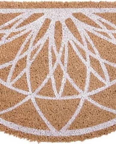 Hnědá půlkruhová rohožka z kokosového vlákna PT LIVING Fairytale coir