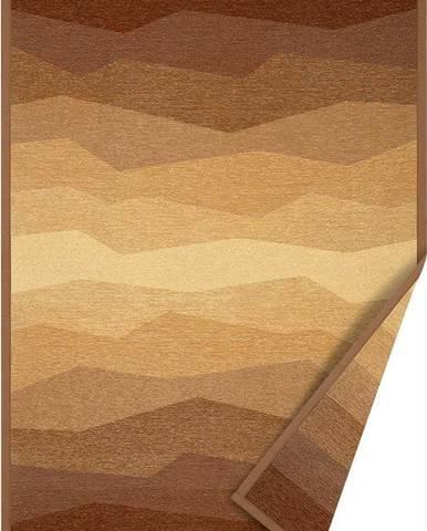 Hnědý oboustranný koberec Narma Merise, 100 x 160 cm