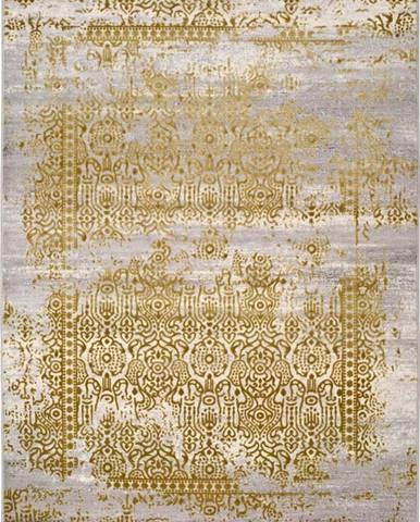 Šedo-zlatý koberec Universal Arabela Gold, 200x290cm