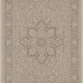 Hnědo-béžový venkovní koberec Bougari Anjara, 140 x 200 cm