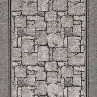 Šedý běhoun Floorita Wall, 55 x 240 cm