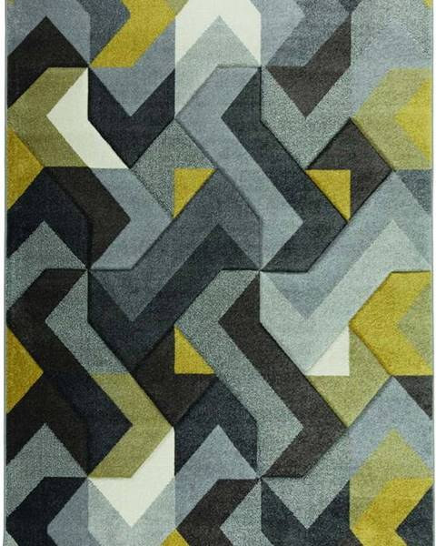 Flair Rugs Zeleno-šedý koberec Flair Rugs Aurora, 160 x 230 cm