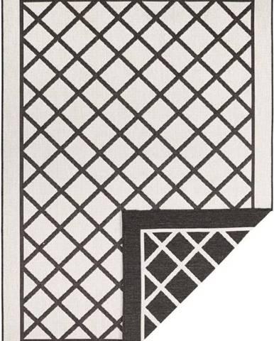 Černo-krémový venkovní koberec Bougari Sydney, 170 x 120 cm
