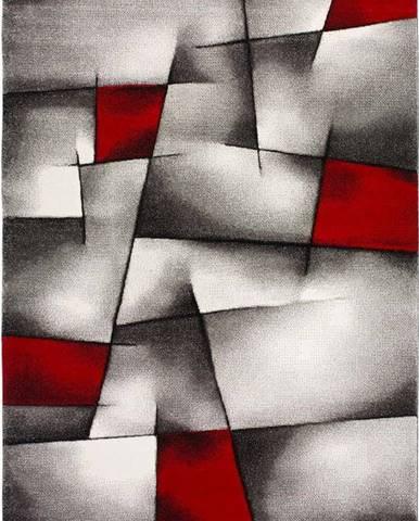 Červeno-šedý koberec Universal Malmo, 160x230cm