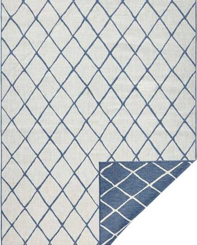 Modro-krémový venkovní koberec Bougari Malaga, 160x230 cm