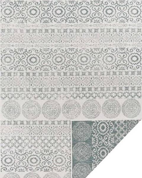 Ragami Zeleno-bílý venkovní koberec Ragami Circle, 80 x 150 cm