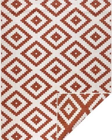 Hnědo-krémový venkovní koberec Bougari Malta, 200x290 cm