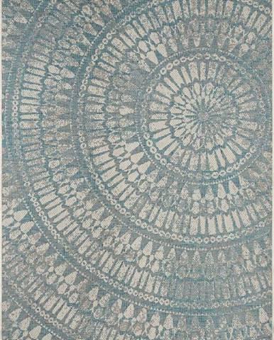 Šedomodrý venkovní koberec Bougari Amon, 160 x 230 cm