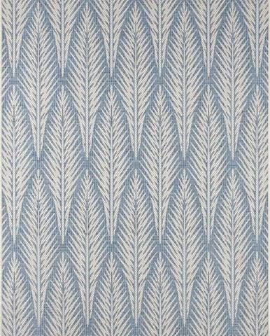 Šedomodrý venkovní koberec Bougari Pella, 70 x 140 cm