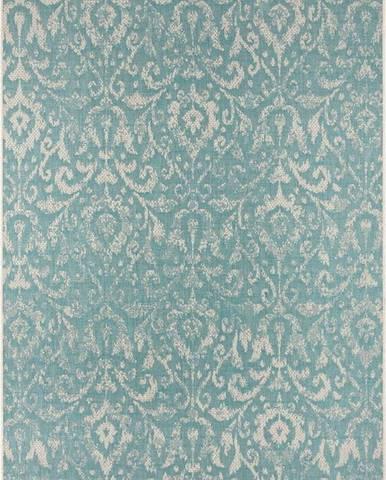 Tyrkysovo-béžový venkovní koberec Bougari Hatta, 70 x 140 cm