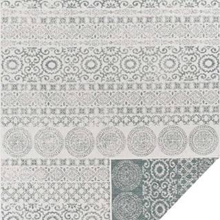Zeleno-bílý venkovní koberec Ragami Circle, 80 x 150 cm