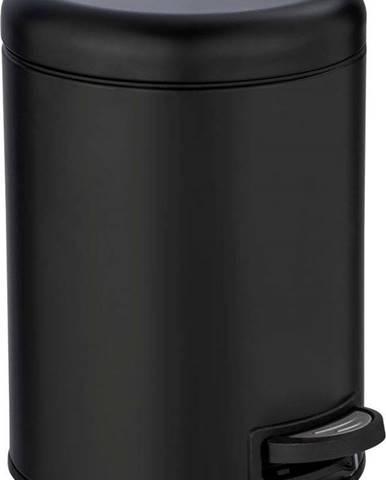 Černý odpadkový koš Wenko Leman, 5 l