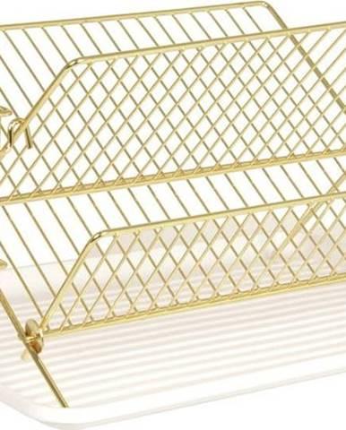 Odkapávač na nádobí ve zlaté barvě Present Time Rack
