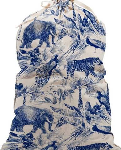 Modro-bílý látkový vak na prádlo Surdic Safari
