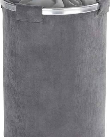 Šedý koš na prádlo Wenko Cordoba, 68 l