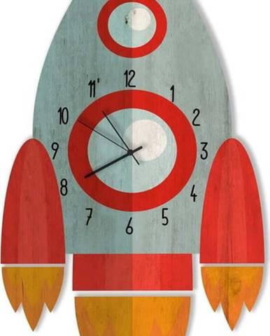 Dětské hodiny ve tvaru rakety Little Nice Things