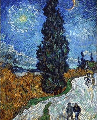 Reprodukce obrazu Vincent van Gogh - Country Road in Provence by Night,60x45cm
